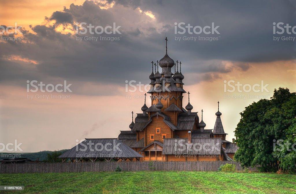 Sviatohirsk Lavra - Church, in Monastery stock photo