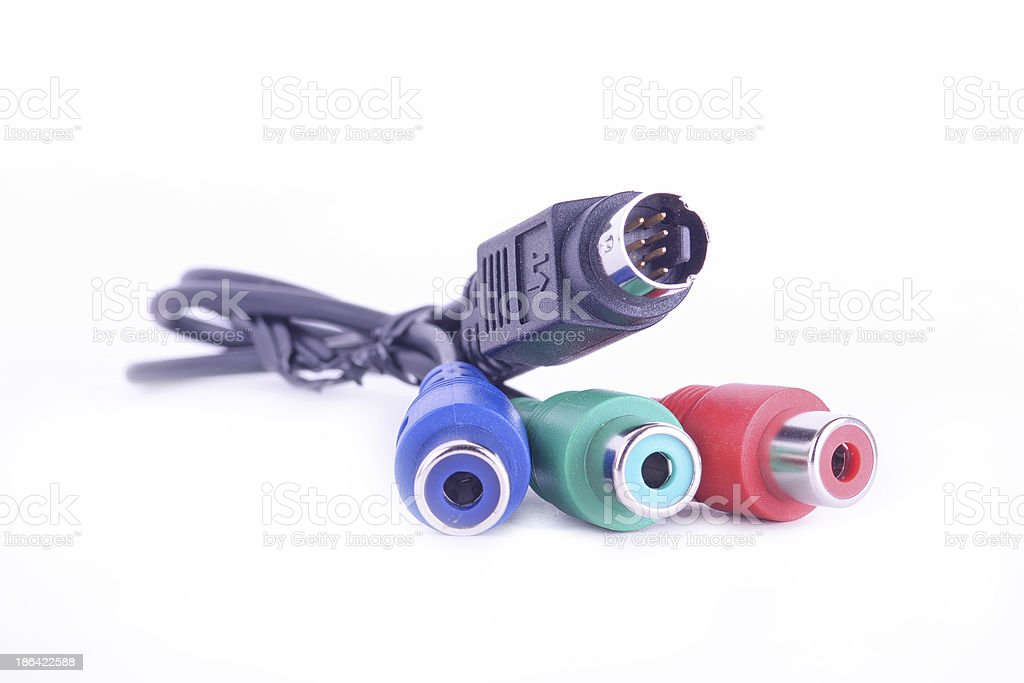 svideo cable stock photo