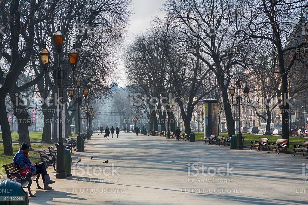 Svobody Avenue, Lviv stock photo