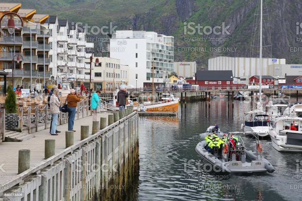 Svolvaer, Norway stock photo