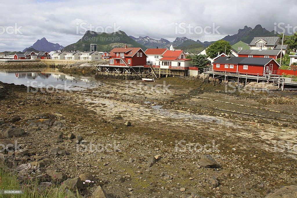 Svolvear coast stock photo