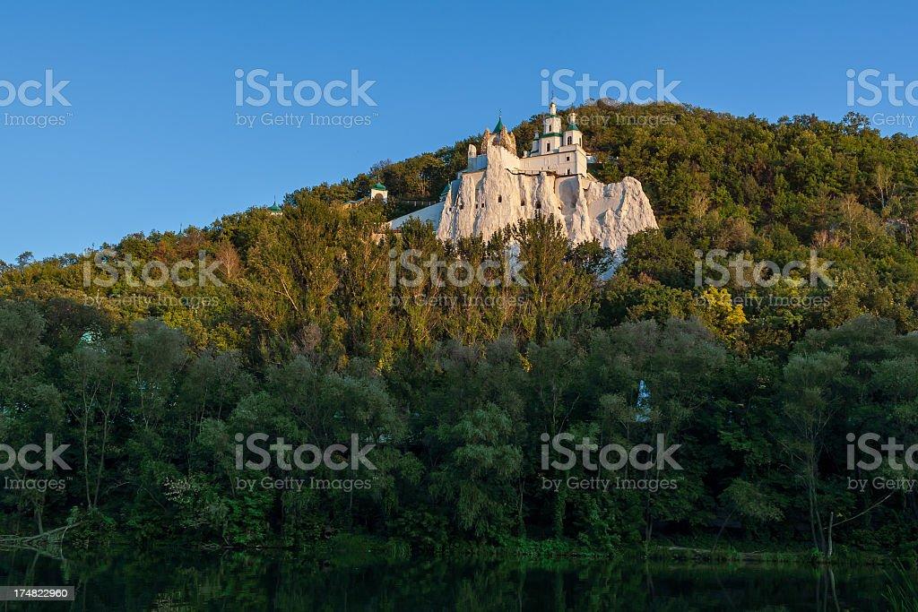 Svyatogorsk Orthodox Monastery stock photo