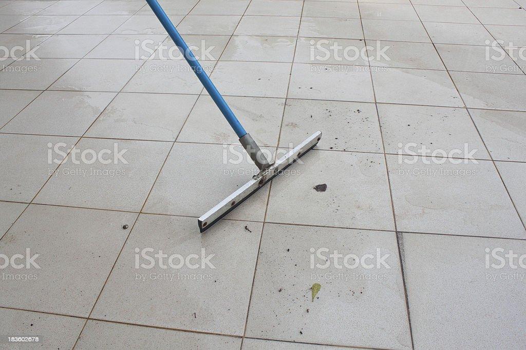 swab clean dirty in the floor stock photo