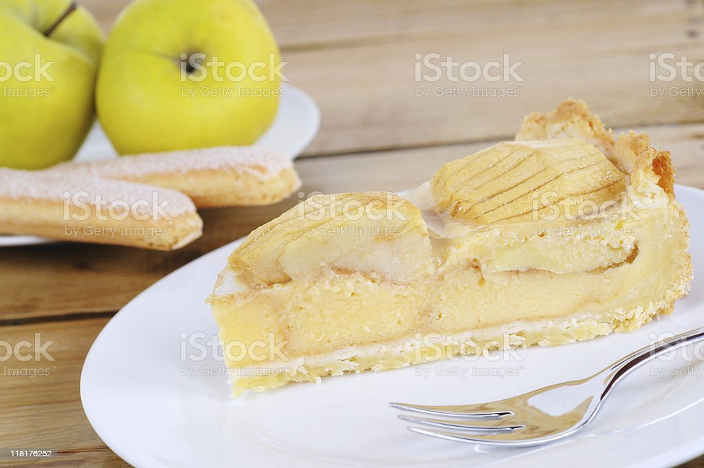 Swabian Single Apple Cake with Biscuits stock photo