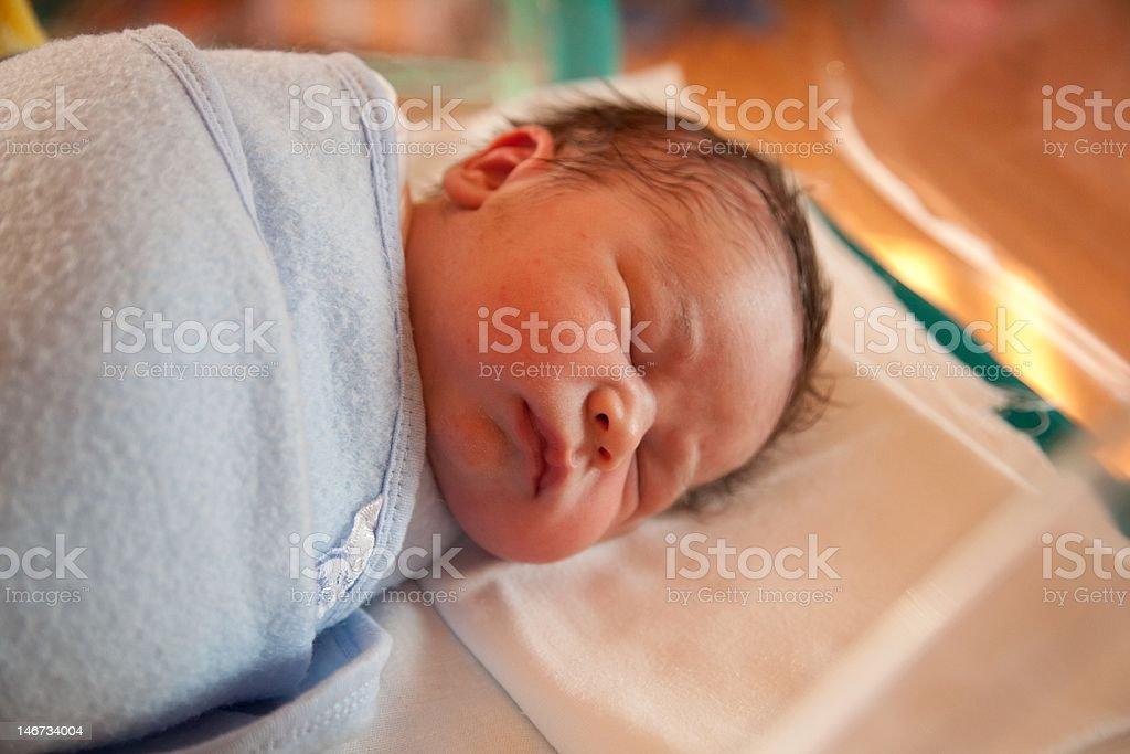 Swaddled new born baby royalty-free stock photo