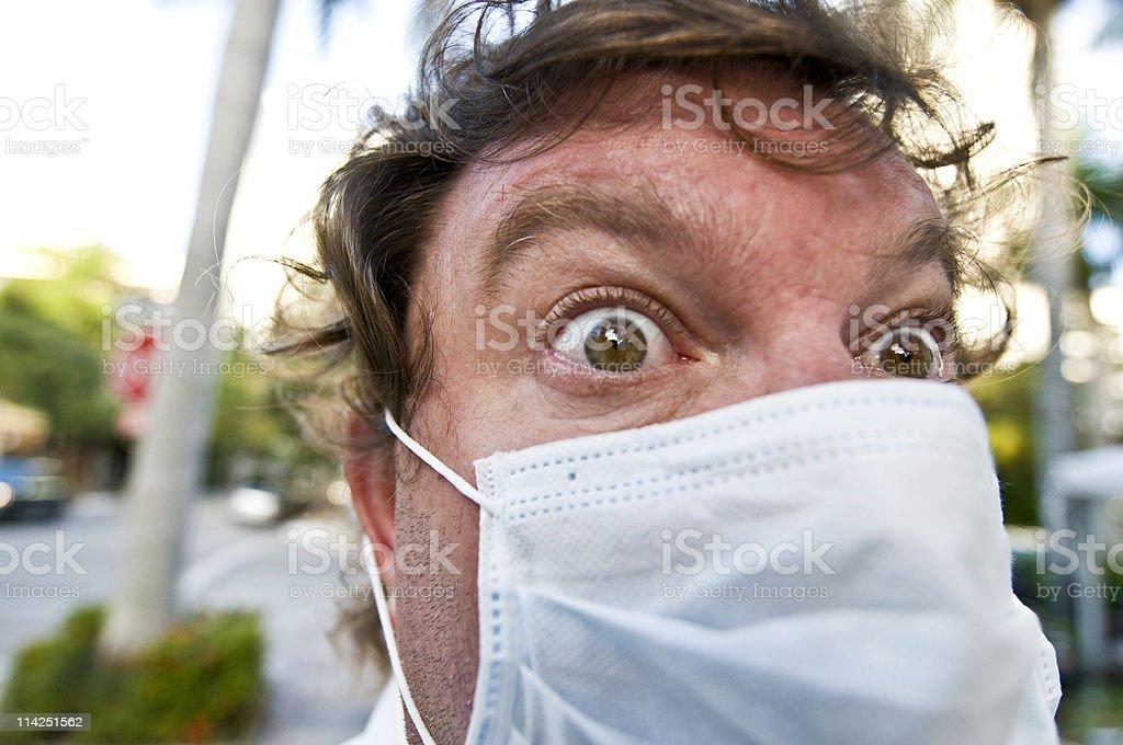 Swain flu paranoia royalty-free stock photo