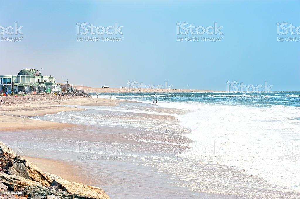 Swakopmund beach, Namib Desert coast, Nmaibia, Africa stock photo