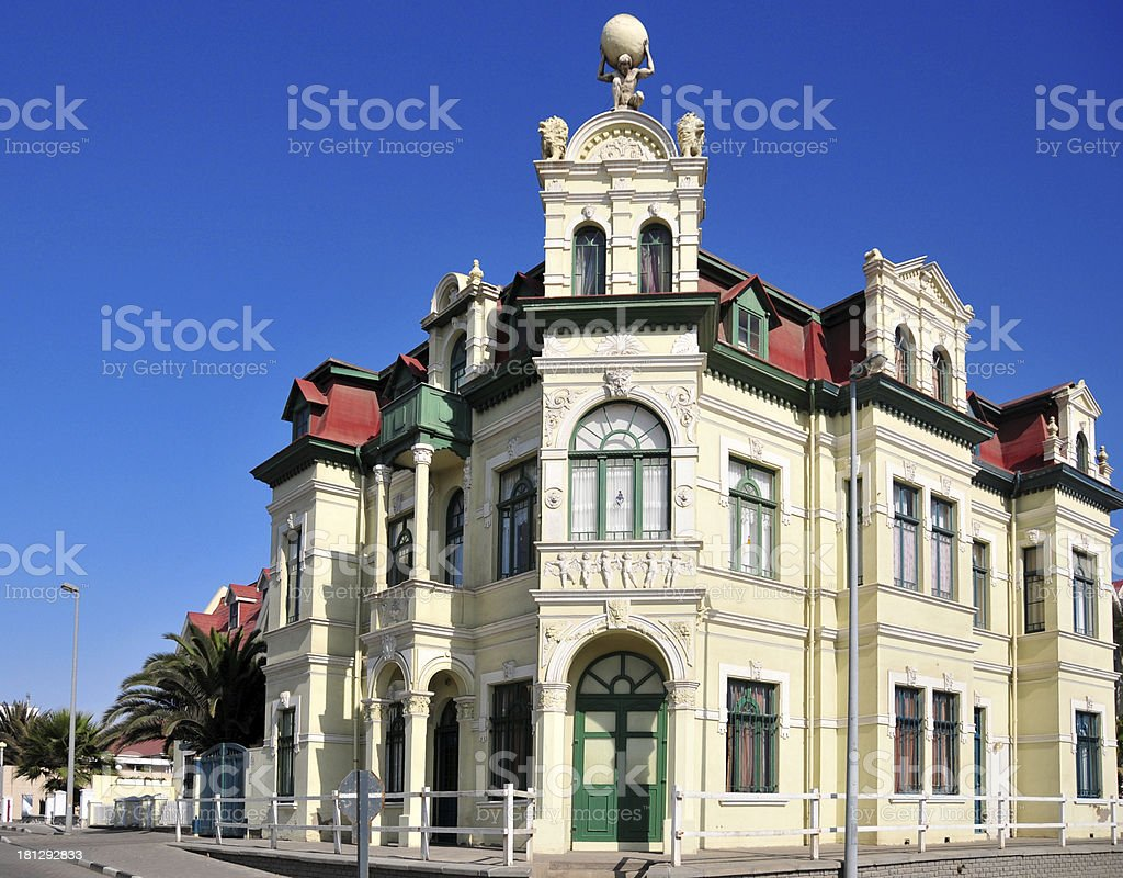 Swakopmund, Erongo district, Namibia: Hohenzollern building royalty-free stock photo