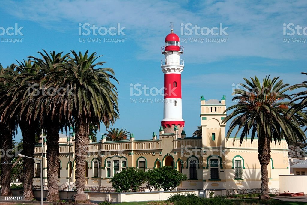 Swakopmund Lighthouse stock photo