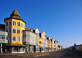 Swakopmund, Namibia: colorful colonial architecture, Schuller street
