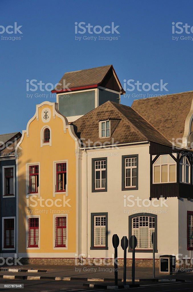 Swakopmund, Namibia: Old Antonius Building stock photo
