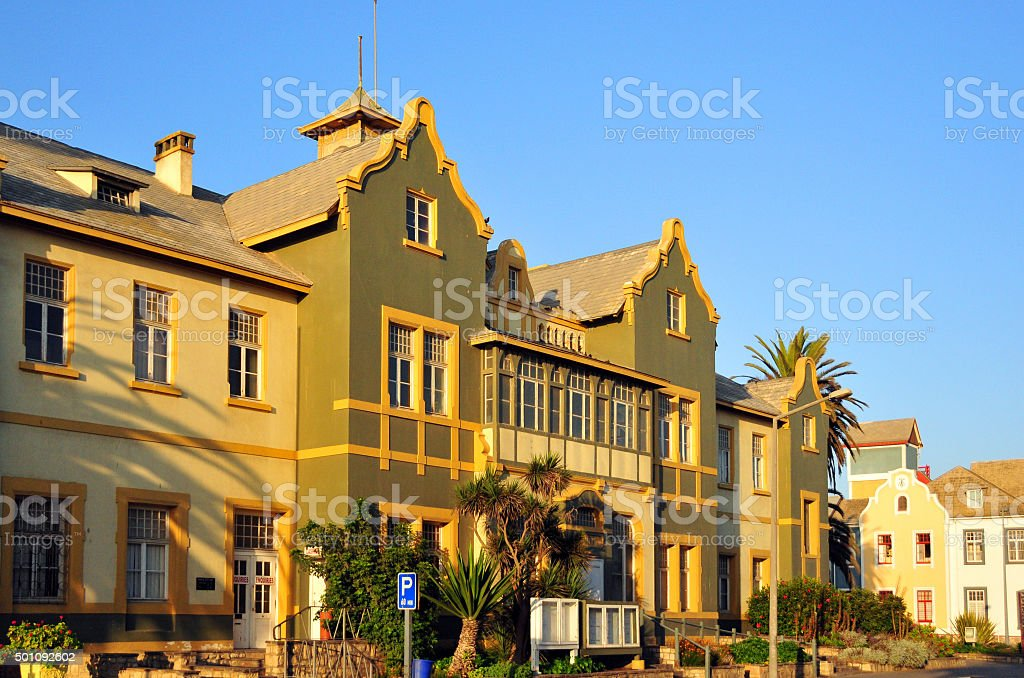 Swakopmund, Namibia: old Municipality Building, colonial architecture stock photo