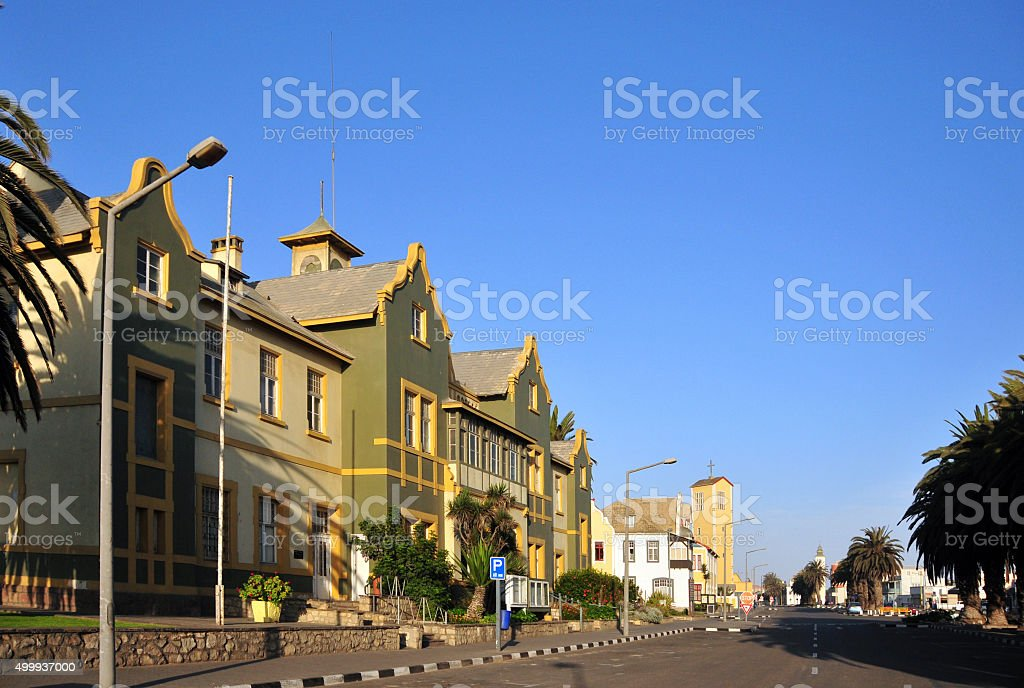 Swakopmund, Namibia: old Municipality Building, Daniel-Tjongarer avenue stock photo