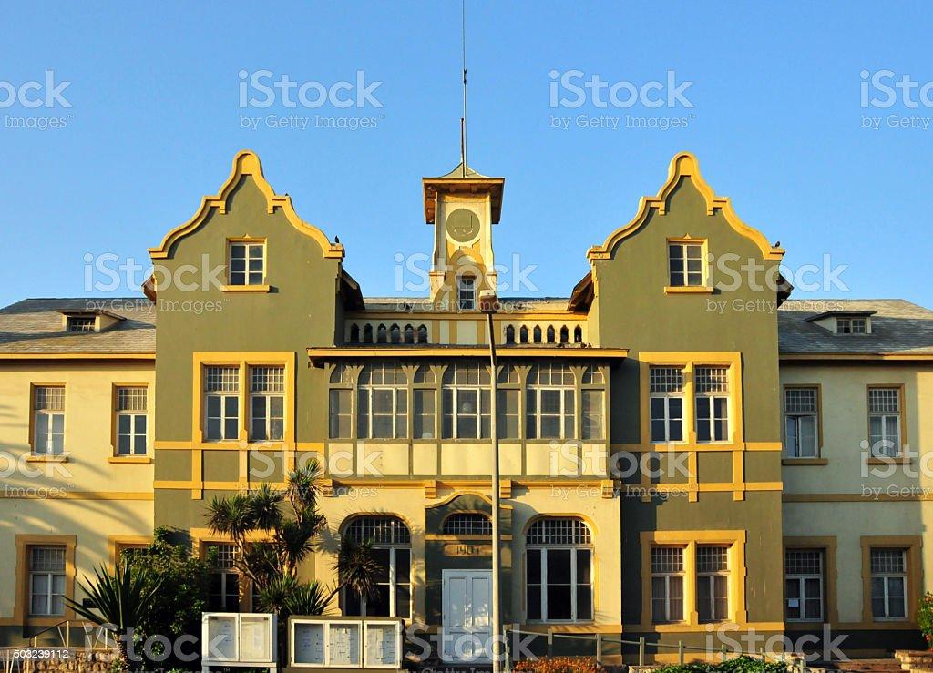 Swakopmund, Namibia: old Municipality Building stock photo
