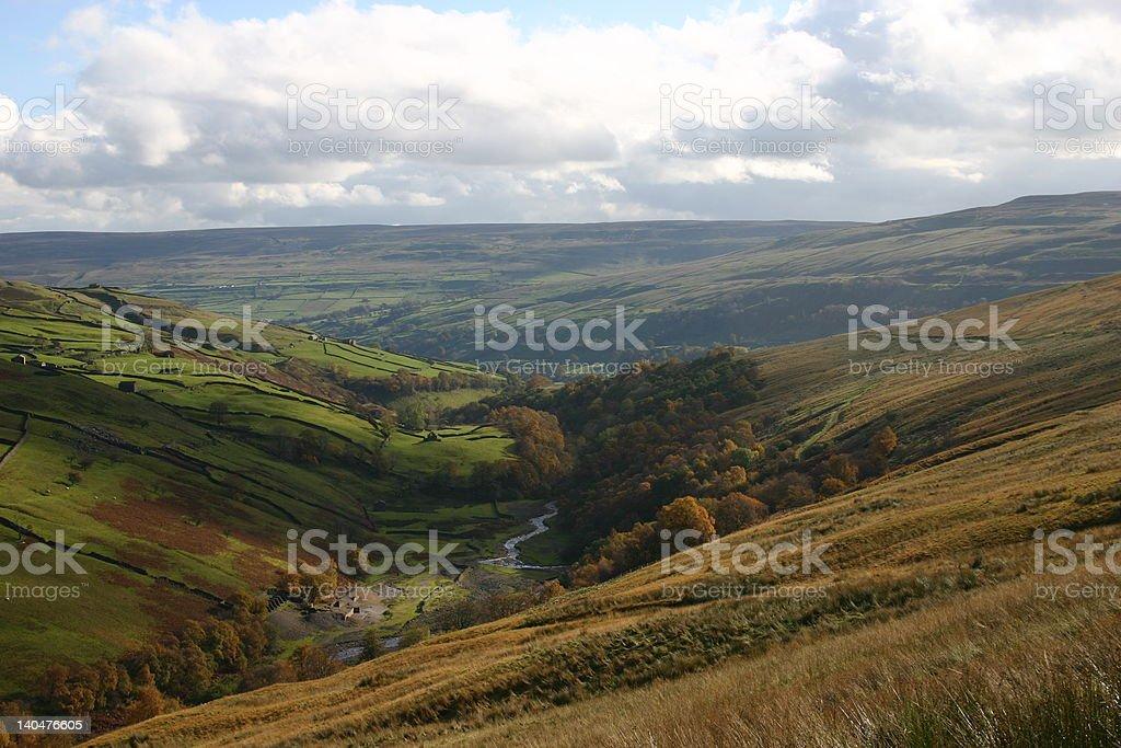 Swaledale England stock photo