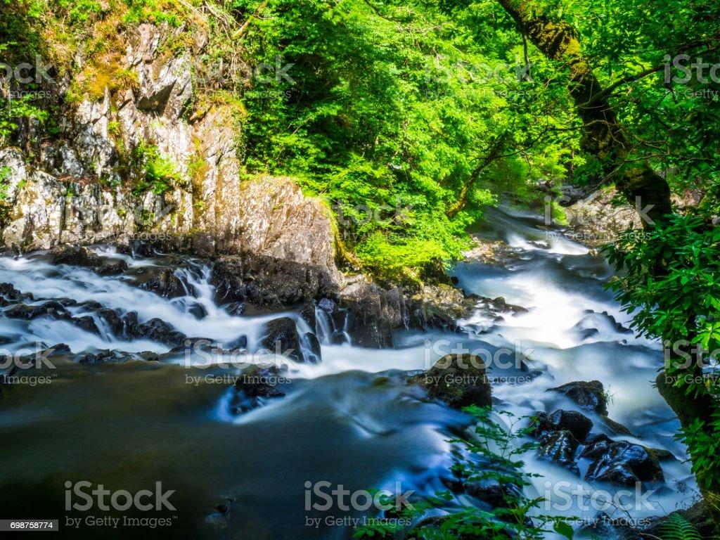 Swallow Falls North Wales stock photo