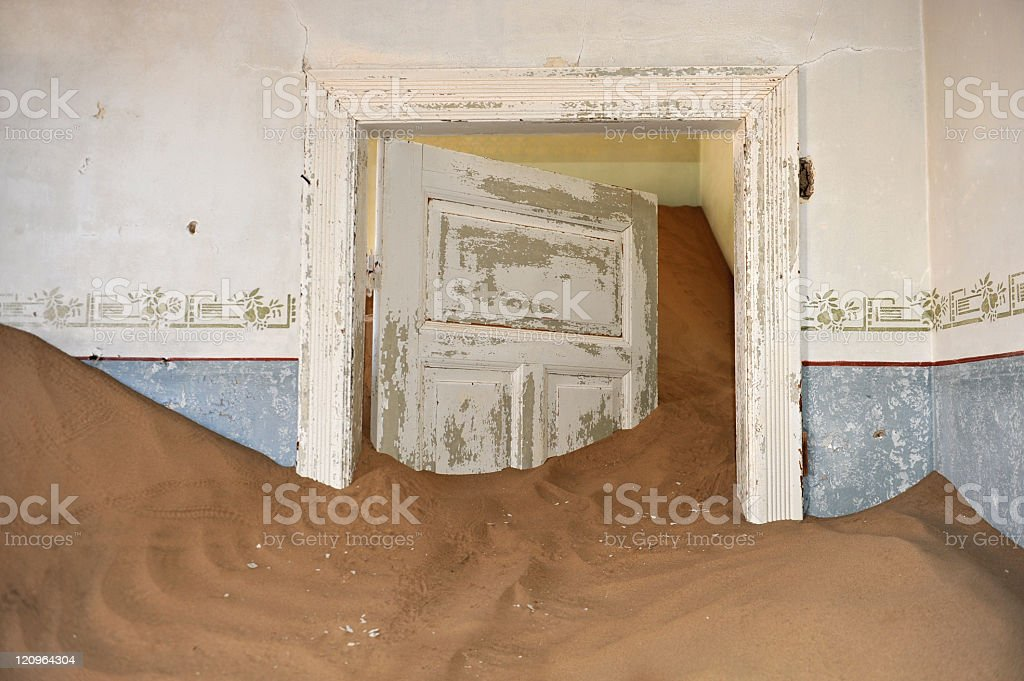 Swallowed by the desert stock photo