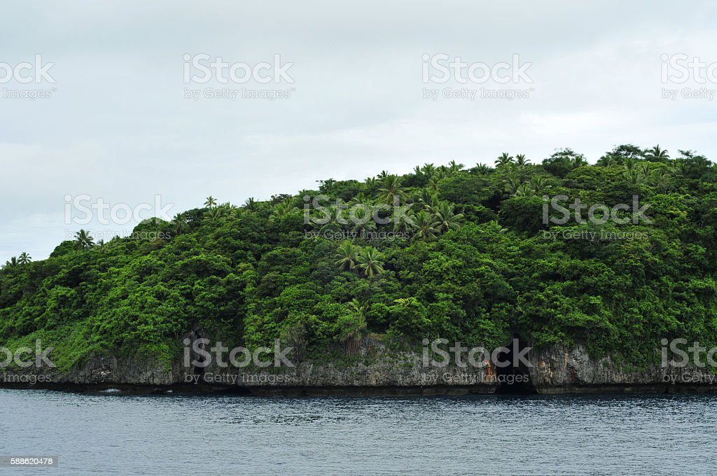 Swallows cave in Vavau stock photo