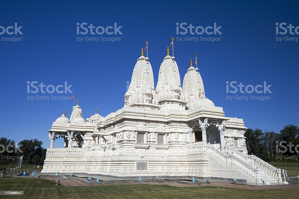 Swami Temple in Bartlett stock photo