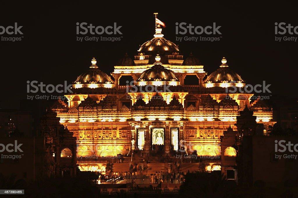Swaminarayan Akshardham temple stock photo