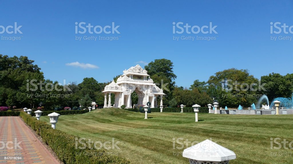 BAPS Swaminarayan Temple stock photo