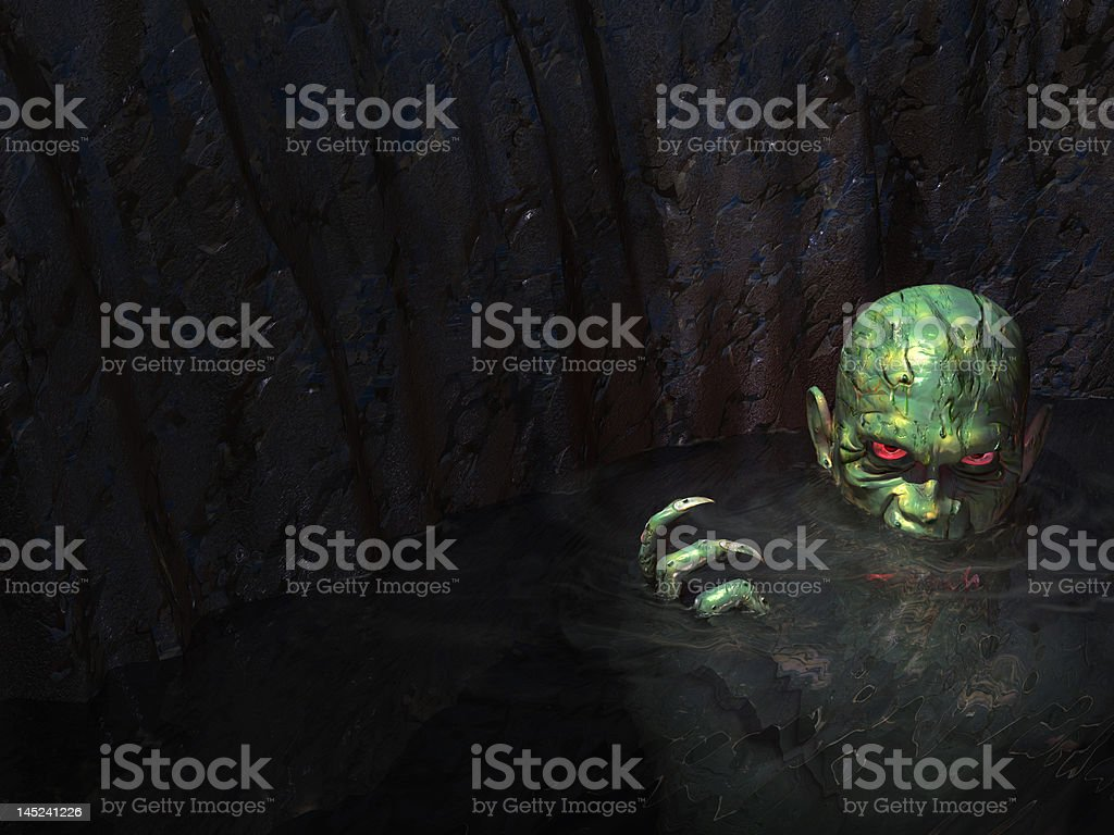 swamp monster royalty-free stock photo