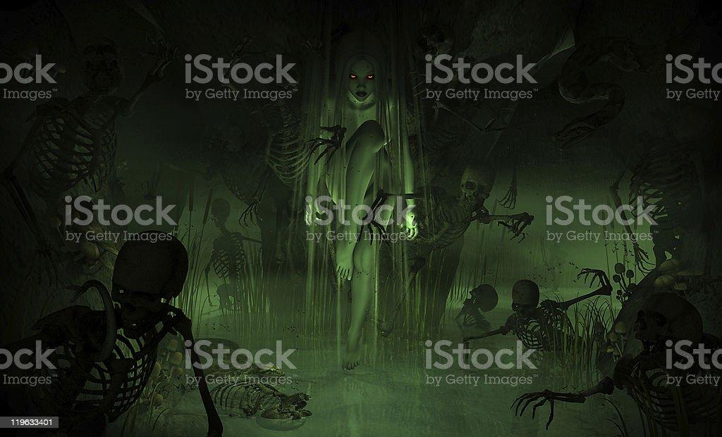 Swamp Witch stock photo