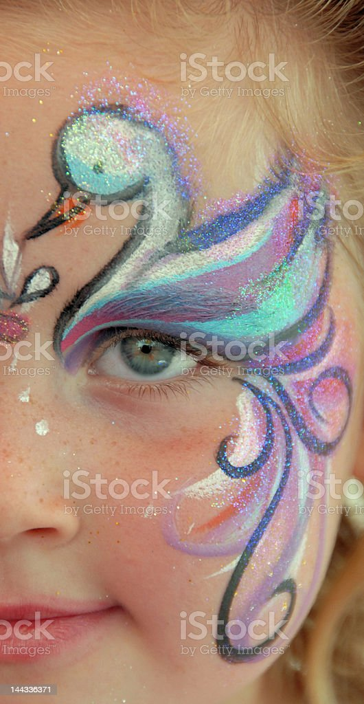 Swan Face Girl 2 royalty-free stock photo