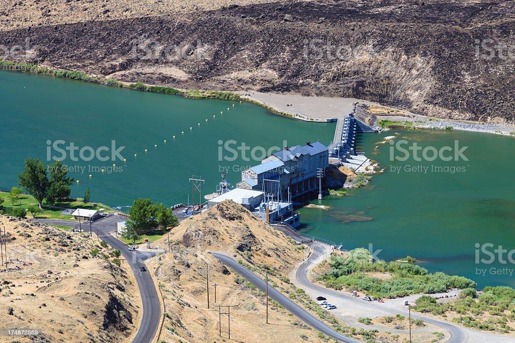Swan Falls Dam stock photo