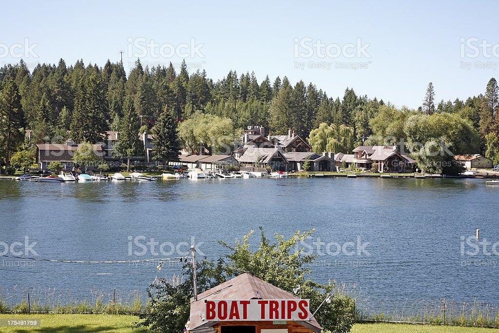 Swan River Big Fork Montana stock photo