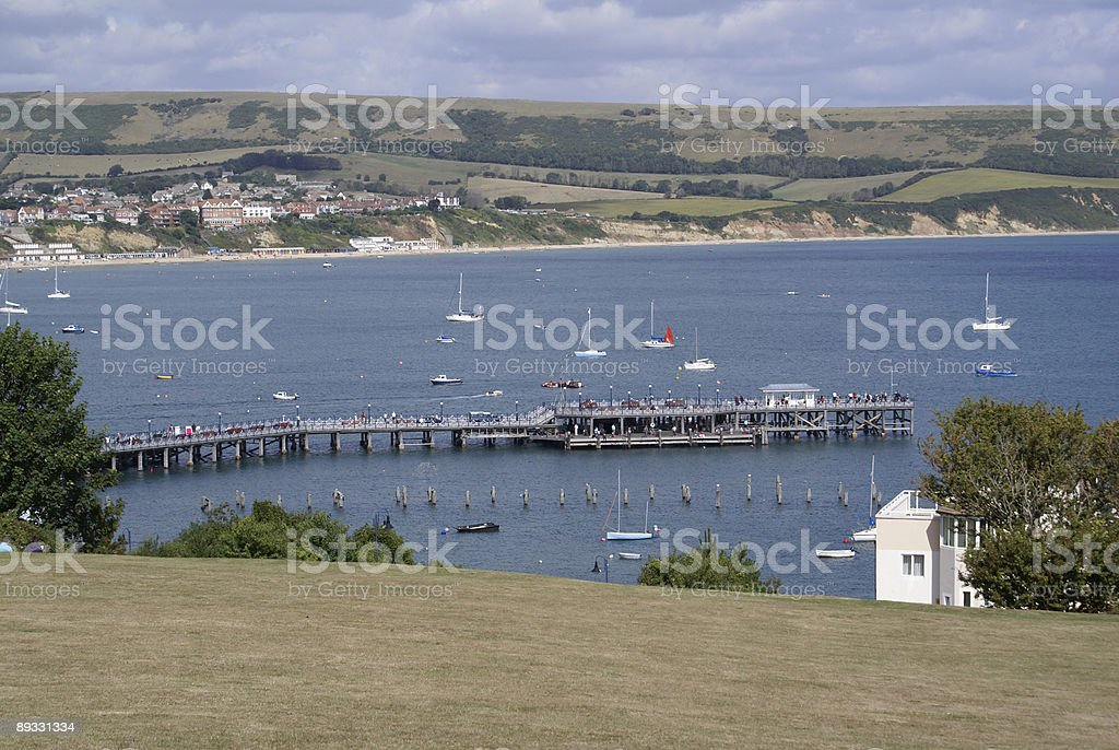 Swanage Bay and Pier stock photo