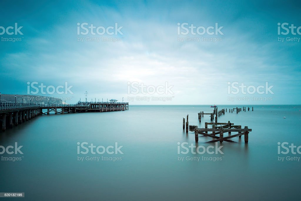 Swanage Old Pier stock photo