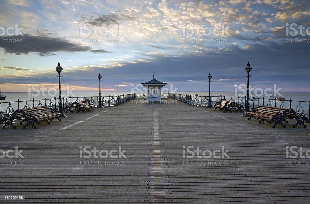 Swanage Pier at Sunrise stock photo