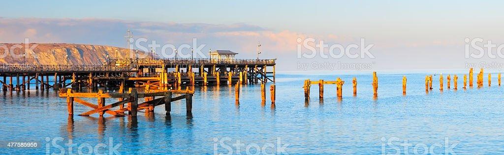 Swanage Pier Dorset stock photo