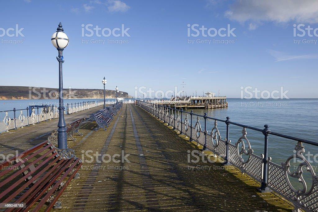 Swanage Pier, Swanage, Jurassic Coast stock photo