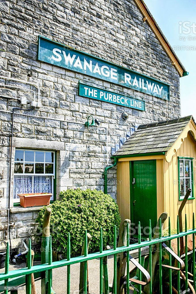 Swanage Railway Station on the Purbeck Line in Dorset, UK stock photo