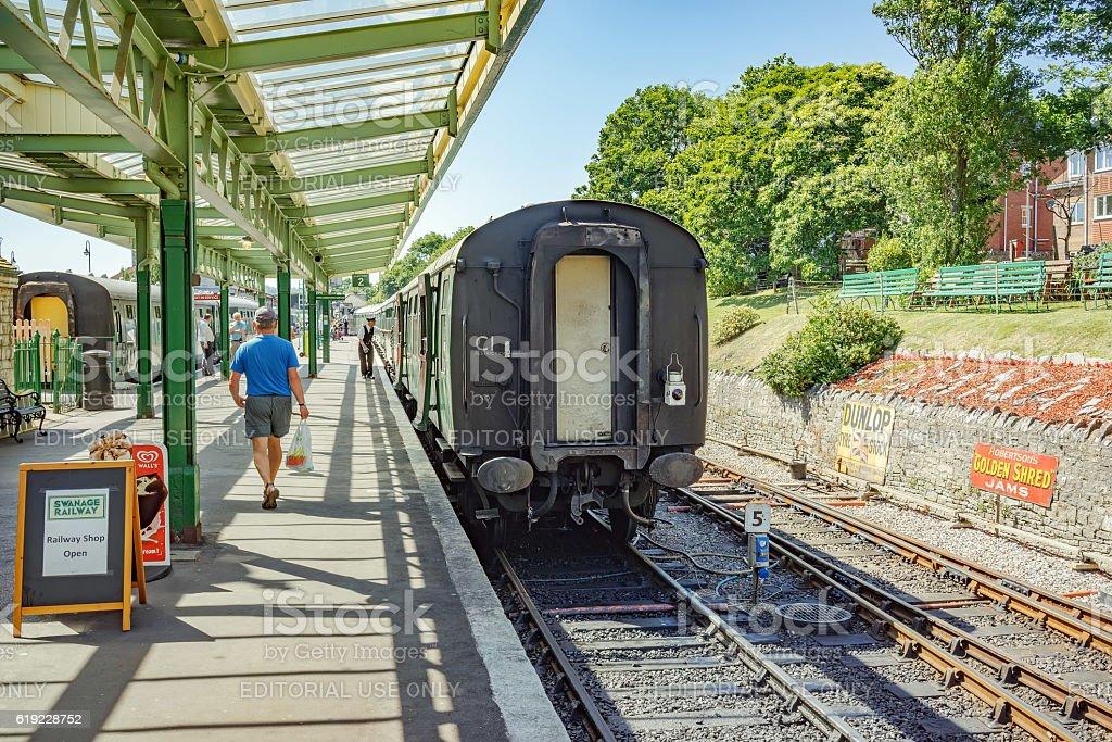 Swanage railway station stock photo