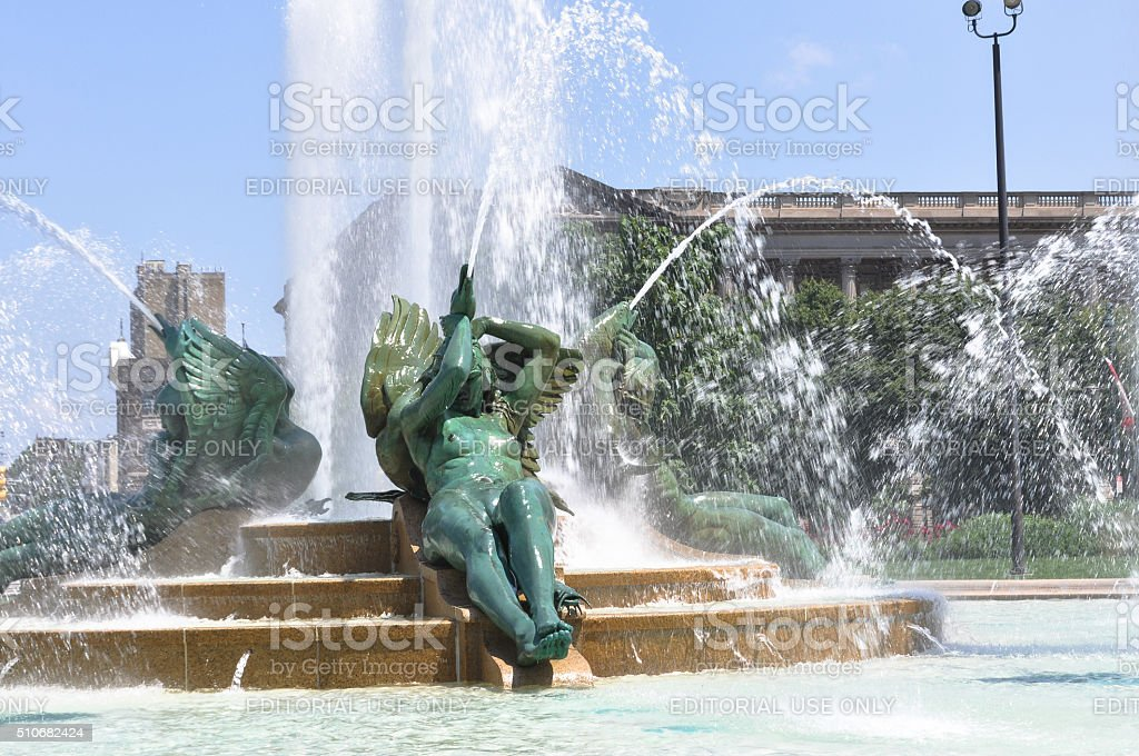 Swann Memorial Fountain, Philadelphia stock photo