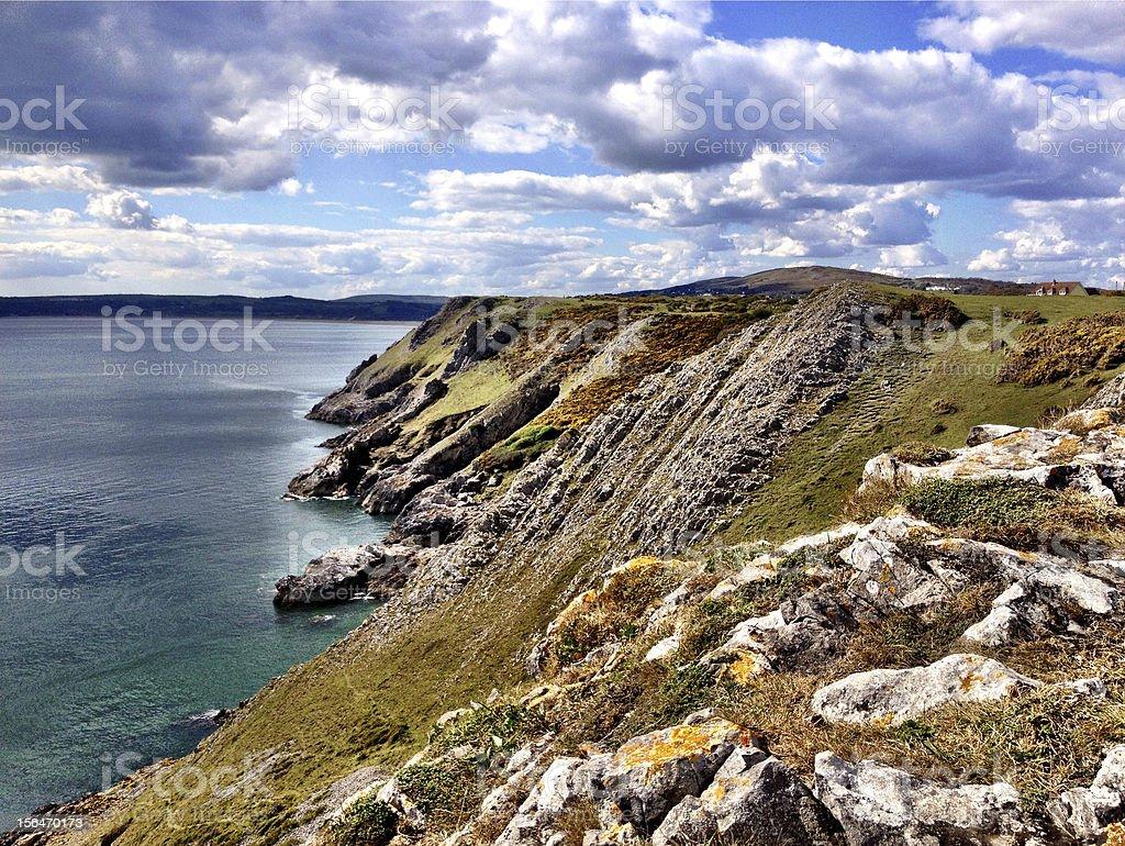 Swansea beach royalty-free stock photo