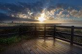Swansea boardwalk sunrise
