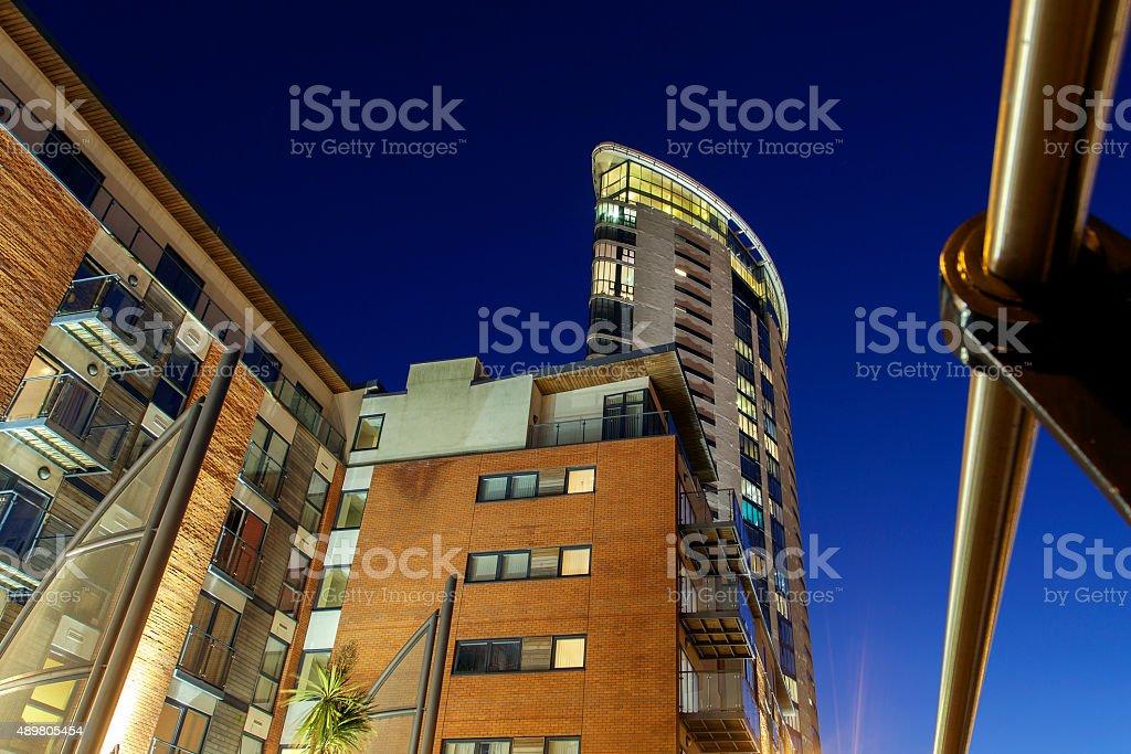 Swansea Marina - Meridian Tower stock photo