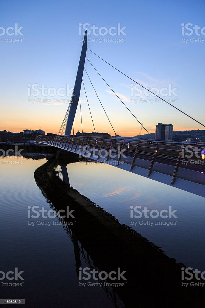 Swansea Marina - Millenium Bridge stock photo