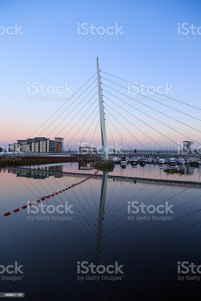 Swansea Marina stock photo