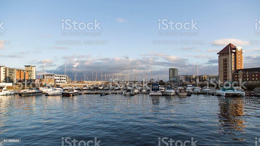 Swansea Marina - SA1 stock photo
