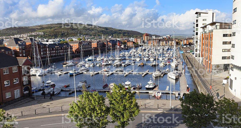 Swansea Marina, Wales stock photo