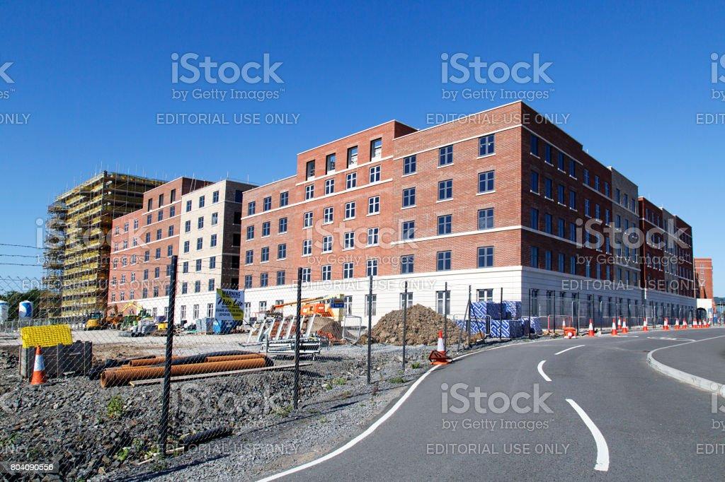 Swansea University - Building Under Construction stock photo