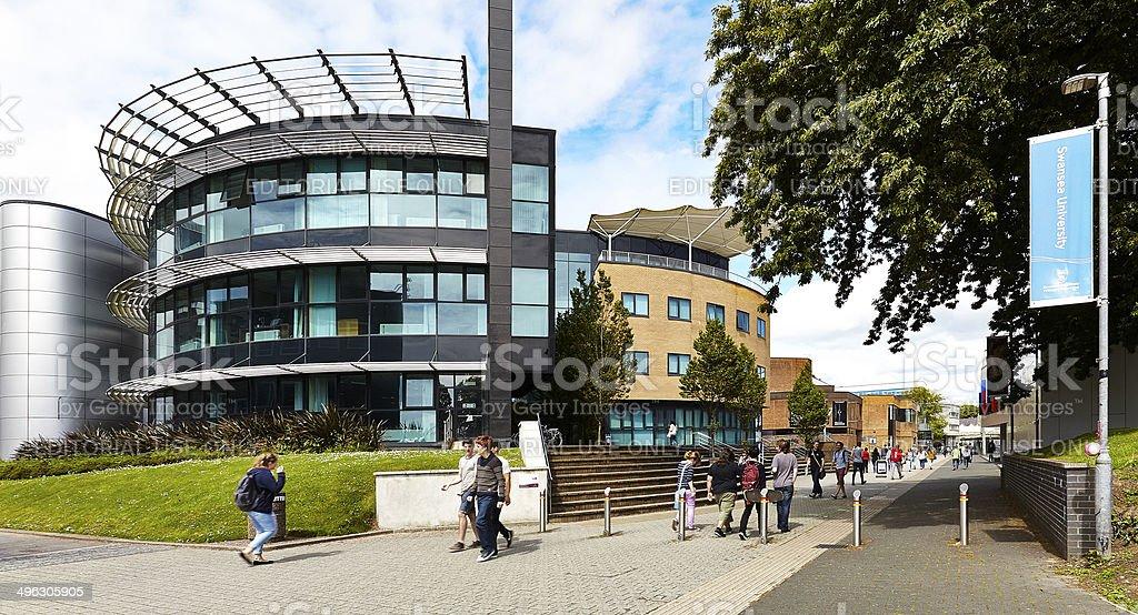 Swansea University Campus stock photo