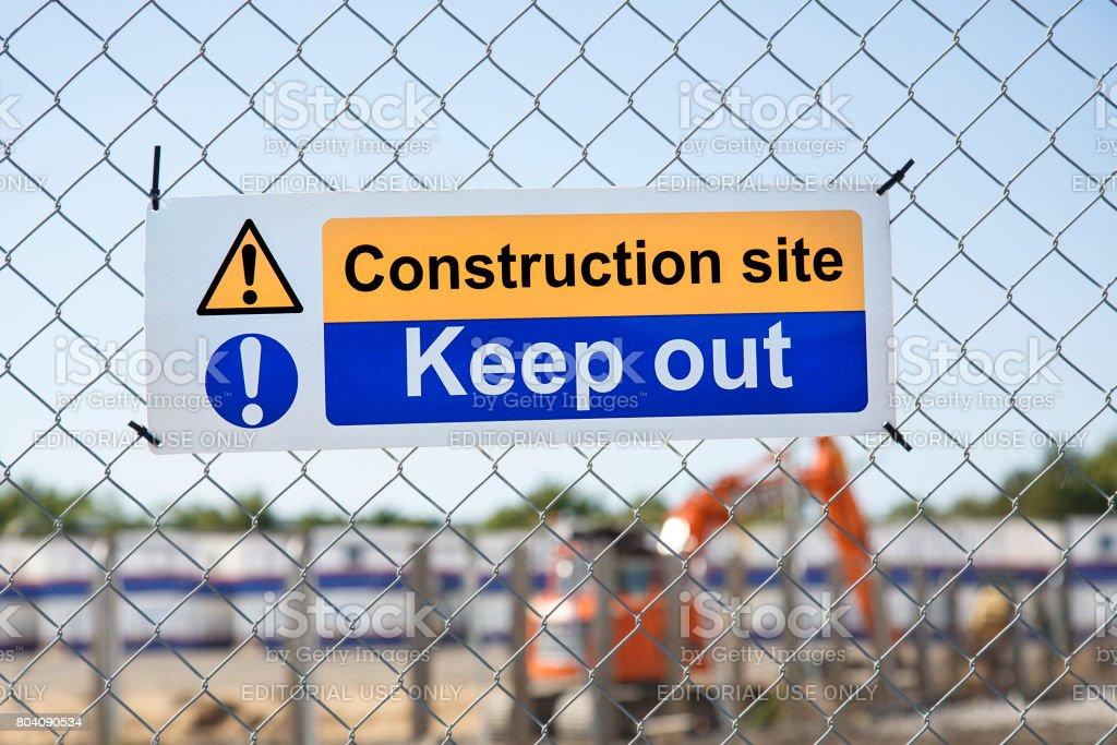 Swansea University - Construction Site stock photo