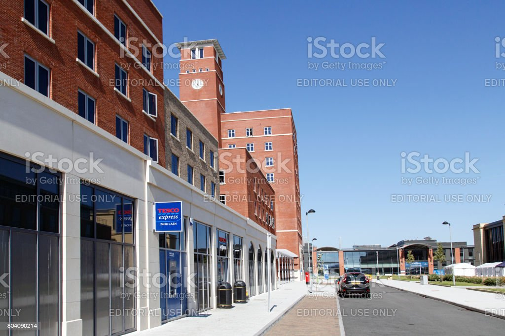 Swansea University - Tesco Express Convenience Store stock photo