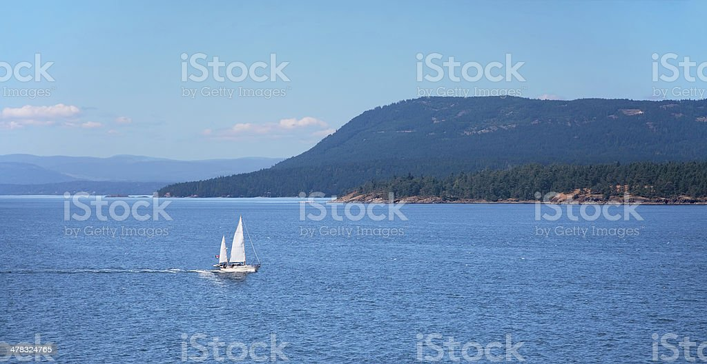 Swanson Channel, Gulf Islands Chain, British Columbia, Canada royalty-free stock photo